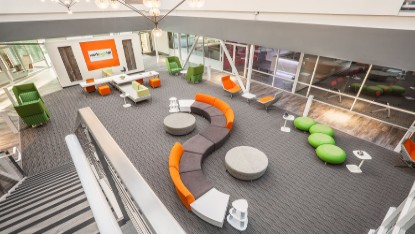 Modern call center furniture lobby
